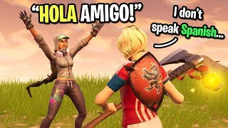 I used Google translate to help this Spanish girl get a win on Fortnite...