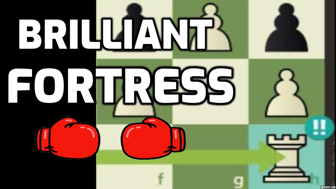 BRILLIANT CHESS PUZZLE with an Amazing Fortress #Brilliant #Chess #bakamitai
