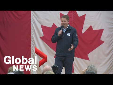 Canada Election: Conservative Leader Andrew Scheer Holds Campaign Event