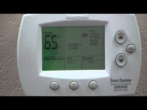 how to change thermostat temperature