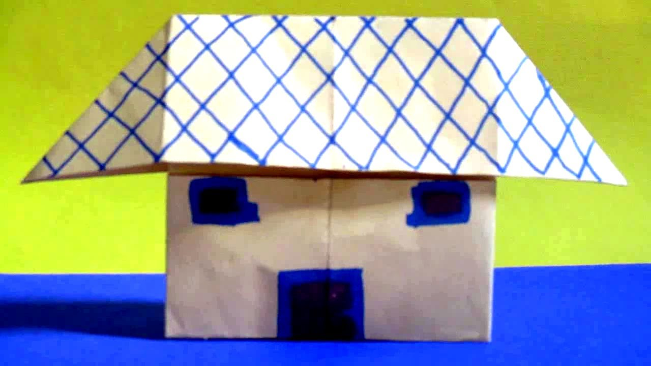 Paper House   How To Make A Paper House Easy Without Glue Or Tape