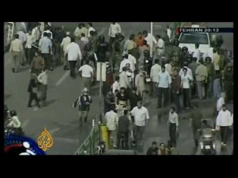 Violence on the streets of the Iranian capital - 21 Jun 09