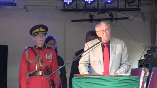 Lieutenant Governor Donald S. Ethell welcomes Scouts to CJ 2013