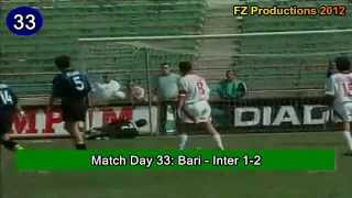 Alvaro Recoba - 66 goals in Serie A (part 1/2): 1-33 (Inter & Venezia 1997-2001)