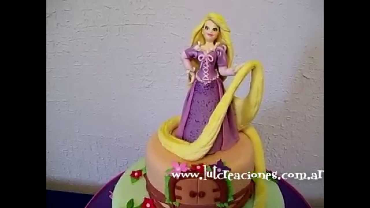 Torta Decorada Rapunzel - Lut Creaciones Tortas Decoradas - YouTube