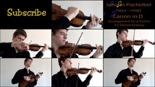 "Stepan Grytsay / Johann Pachelbel ""Canon in D"" [Arrangement for 8 Violins]"