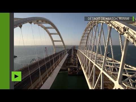 Le pont reliant la Crimée à la Russie tel vous ne l'avez jamais vu