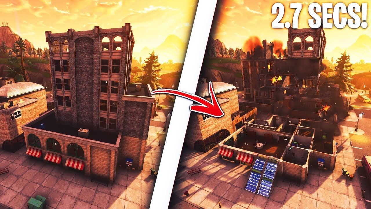 How to take down ANY BUILDING under 3 SECONDS in Fortnite! Insane glitch! (Fortnite Glitches)