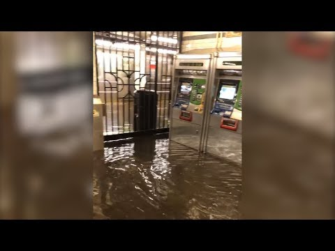 Crazy Storm Makes NYC Subway Look Like River Due To Rare Flooding