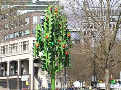 Canary Wharf traffic Light Tree