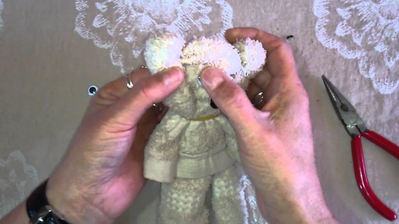 Ositos de toalla facial youtube - Toalla con respaldo ...