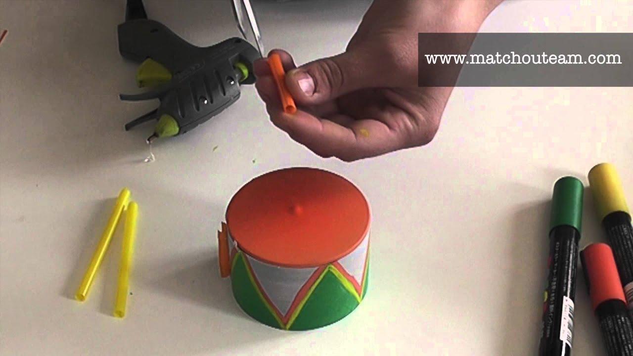 Mini tambour fabriquer youtube - Bricolage avec recuperation ...