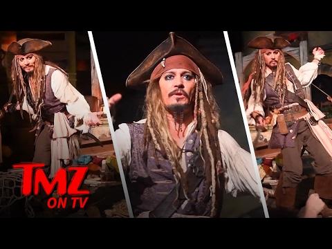 Johnny Depp Takes Over Pirates Of the Caribbean At Disneyland | TMZ TV