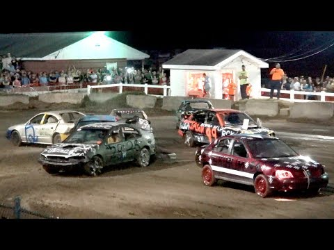 4 Cyl Demolition Derby Heat 1 Oxford Fair Maine 2017