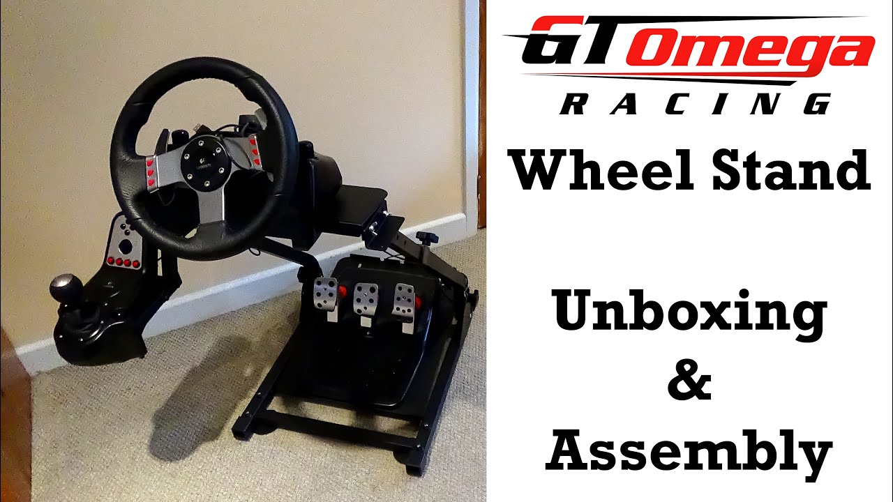 6a127e25fa4 GT Omega Wheel Stand Unboxing & Assembly (Also A Stand Test With The  Logitech G27)