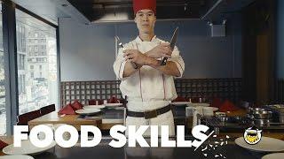 All of the Benihana Teppanyaki Tricks | Food Skills