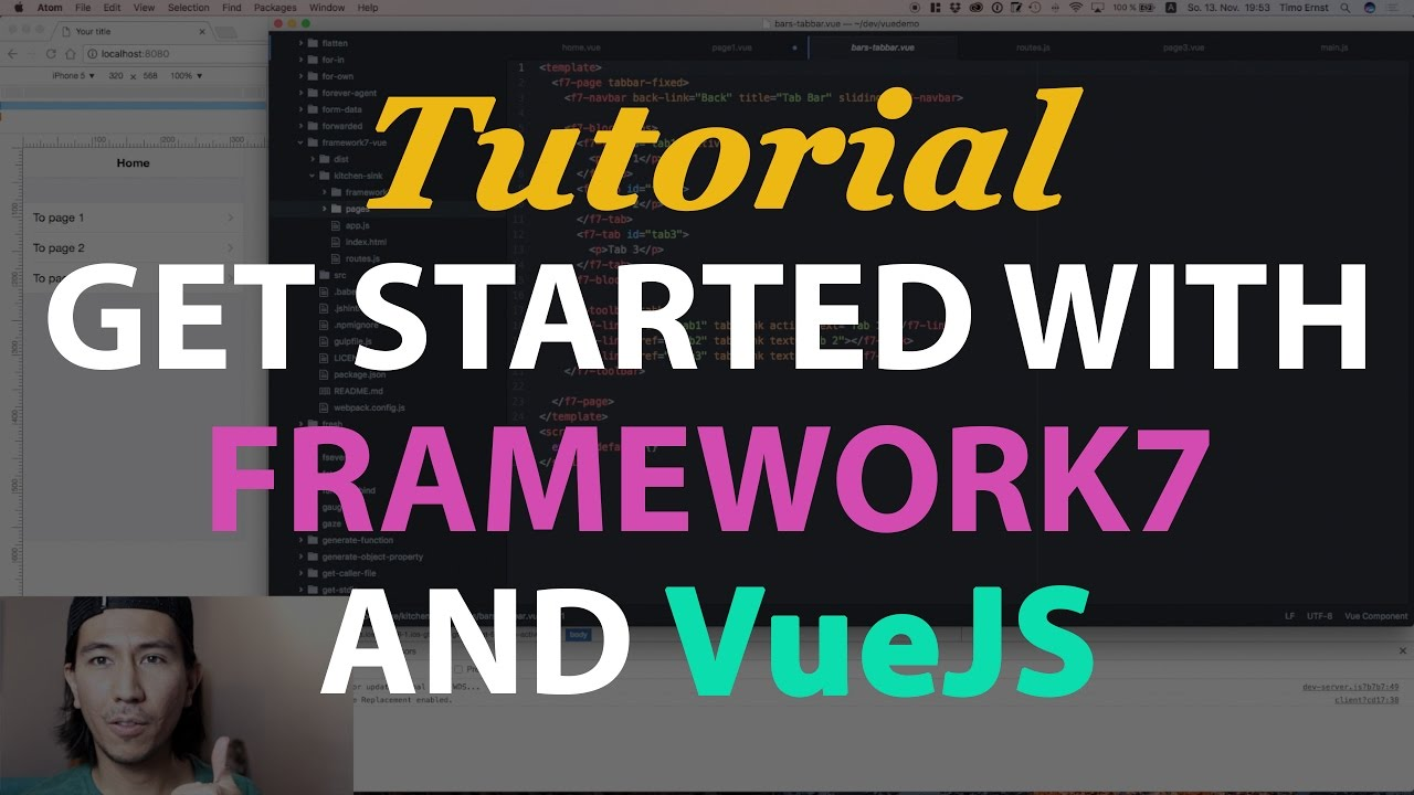 How to get started with Framework7, VueJS and Webpack | Timo