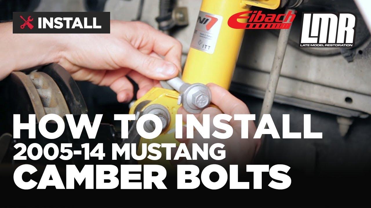 Mustang Eibach Camber Adjustment Bolts Install 2005 14
