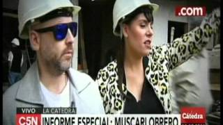 C5N - La Catedra:  Muscari en obra en construccion