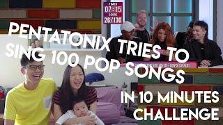 PENTATONIX TRIES TO SING 100 POP SONGS IN 10 MINUTES CHALLENGE | Reaction Video!