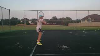 Running step forehand. Tennis drills