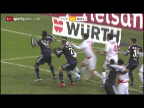 FC Sion vs  FC Basel   13 12 2015   Highlights
