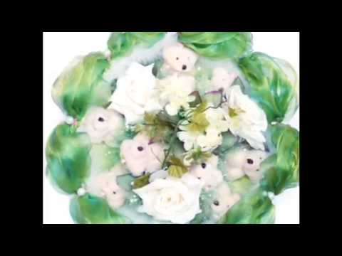 Ролик Букет из мягких игрушек плюшевые мишки