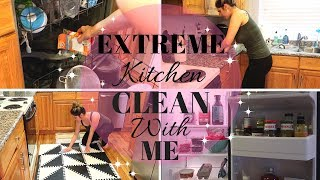 EXTREME CLEAN WITH ME / DEEP CLEAN KITCHEN TIPS