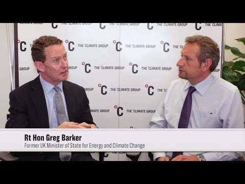 Rt Hon Greg Barker, Former UK Minister of State for Energy and Climate Change