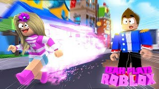 ROBLOX Little Leah Plays - WORLD RECORD, FASTEST GIRL EVER - SPEED RUN 4!!