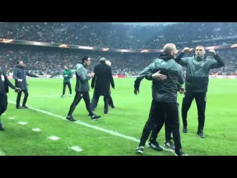 Le tir au but de Gonalons pour Besiktas / Lyon (Europa League) et scènes de joie à l'OL - Footbol