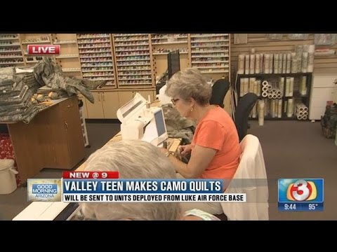 Teen makes camo quilts to earn Girl Scout Gold Award