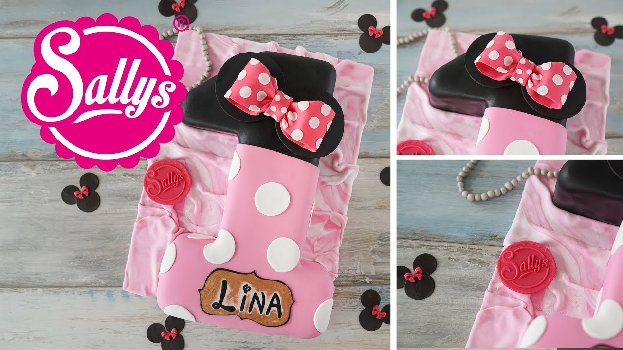 Geburtstagstorte Zahl 1  Minnie Mouse Torte backen
