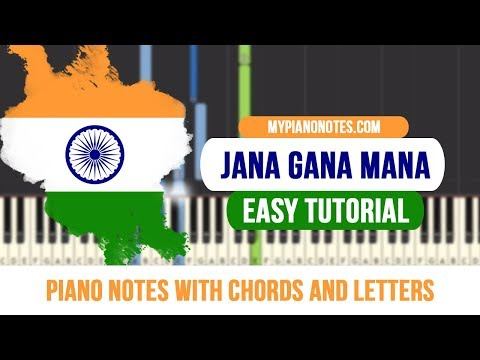 Jana Gana Mana Piano Notes with Chords and Letters - Easy Tutorial