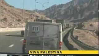 Viva Palestina Convoy in Lattakia - Press TV Report Jan 1 2010