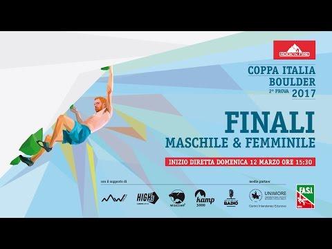 Coppa Italia Boulder 2017 • Modena • FINALI