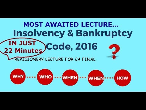 Revision of CA FINAL Law IBC (in just 22 Minutes) (Insolvency & Bankruptcy Code 2016)