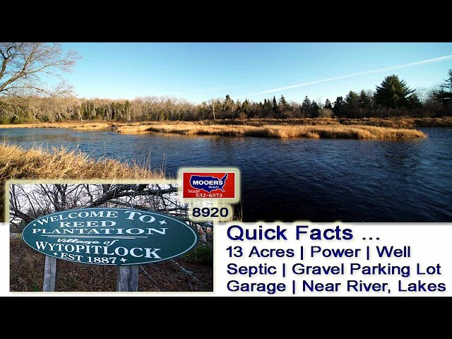 Cheap Land For Sale In Maine | Well, Septic, Power, 13 Acres In Wytopitlock ME MOOERS REALTY 8920