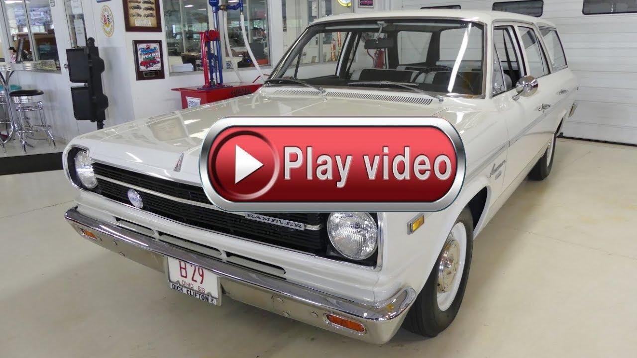 1968 AMC Rambler American 440 292ci 998 ACTUAL MILES - YouTube