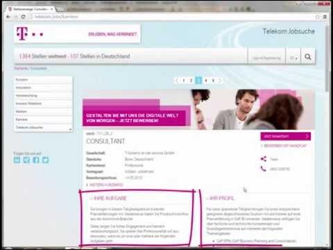 Telekom Karriere – Einfach online bewerben!