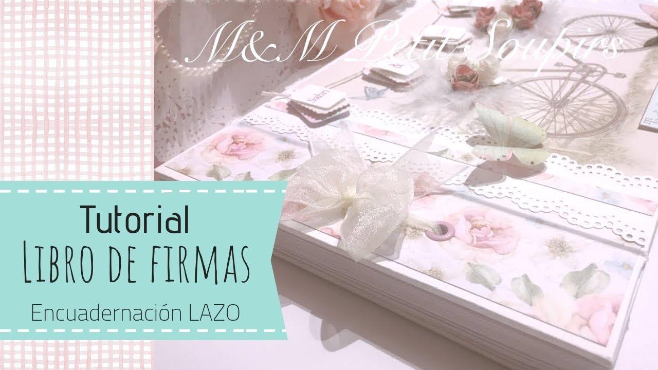 tutorial libro de firmas boda encuadernaci u00f3n lazo