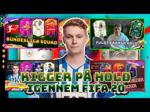 KIGGER PÅ MINE HOLD IGENNEM FIFA 20!