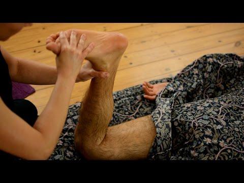 Ayurvedic Yoga Massage, ASMR, Full Body Part 3: Legs and Feet