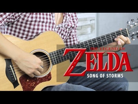 Zelda - Song Of Storms Tutorial Guitarra + TAB // GUITAR LESSON (HD)