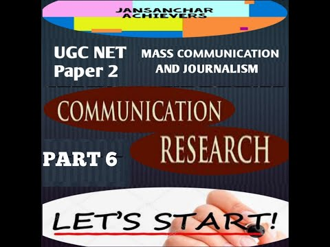MASS COMMUNICATION RESEARCH/VALIDITY AND RELIABILITY- COMMUNICATION RESEARCH UNIT 10 /UGC-NET