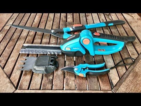 Инструмент для стрижки живой изгороди.