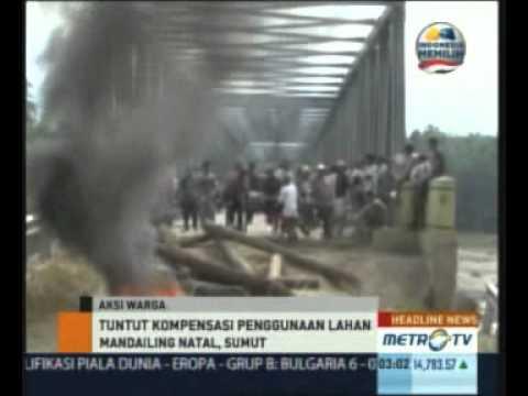 Warga Nagajuang Menutup Paksa Jembatan Ke Areal Tambang