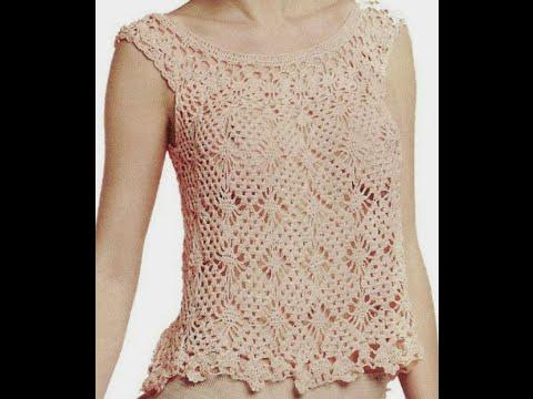 Gr ficos para tejer blusa rosa a crochet no es tutorial - Jerseys faciles de hacer ...