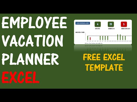 Employee Vacation Planner V  Free Excel Template  Youtube