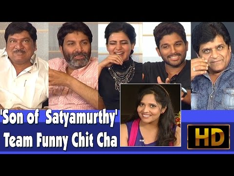 'Son of  Satyamurthy' Team Funny Chit Chat l Allu Arjun l Tr